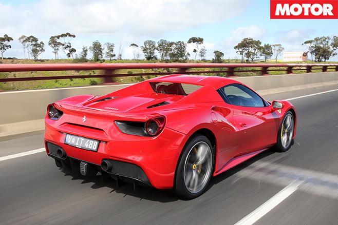 2016 Ferrari 488 Spider rear