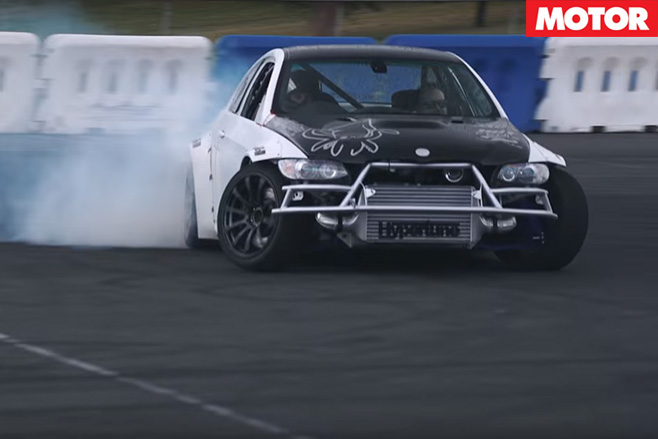 Skyline GT-R powered M3 drifting