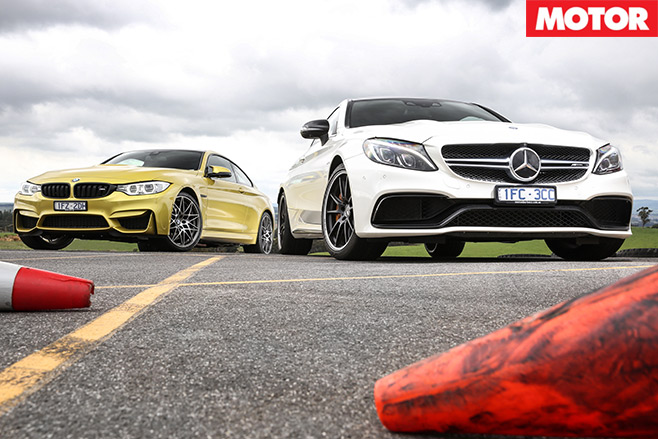 Mercedes -AMG-C63-S-Coupe -vs -BMW-M4-Competition -front