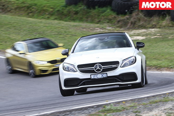 Mercedes -AMG-C63-S-Coupe -vs -BMW-M4-Competition -track