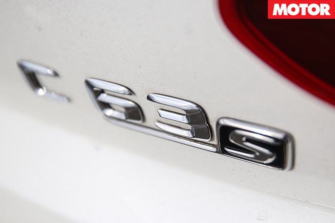 Mercedes -AMG-C63-S-Coupe -vs -BMW-M4-Competition -mercedes -badge