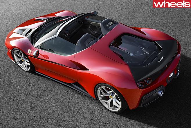 Ferrari -J50-Japan -only -special -edition -top -rear -side -targa -side