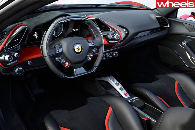 Ferrari -J50-Japan -only -special -edition -interior -front -seats