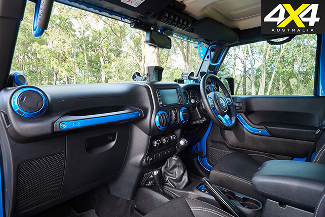 Custom Jeep Wrangler JKU rubicon interior