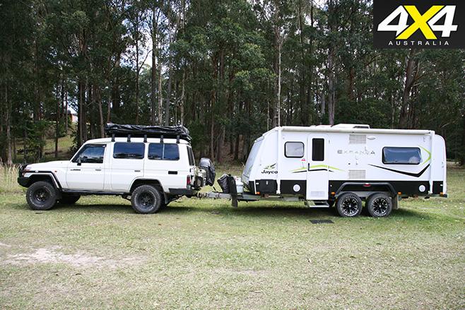 Troopy with caravan