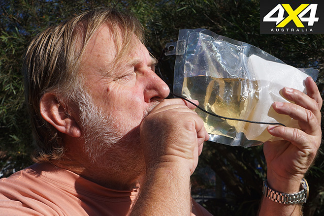 Drinking unpolluted water