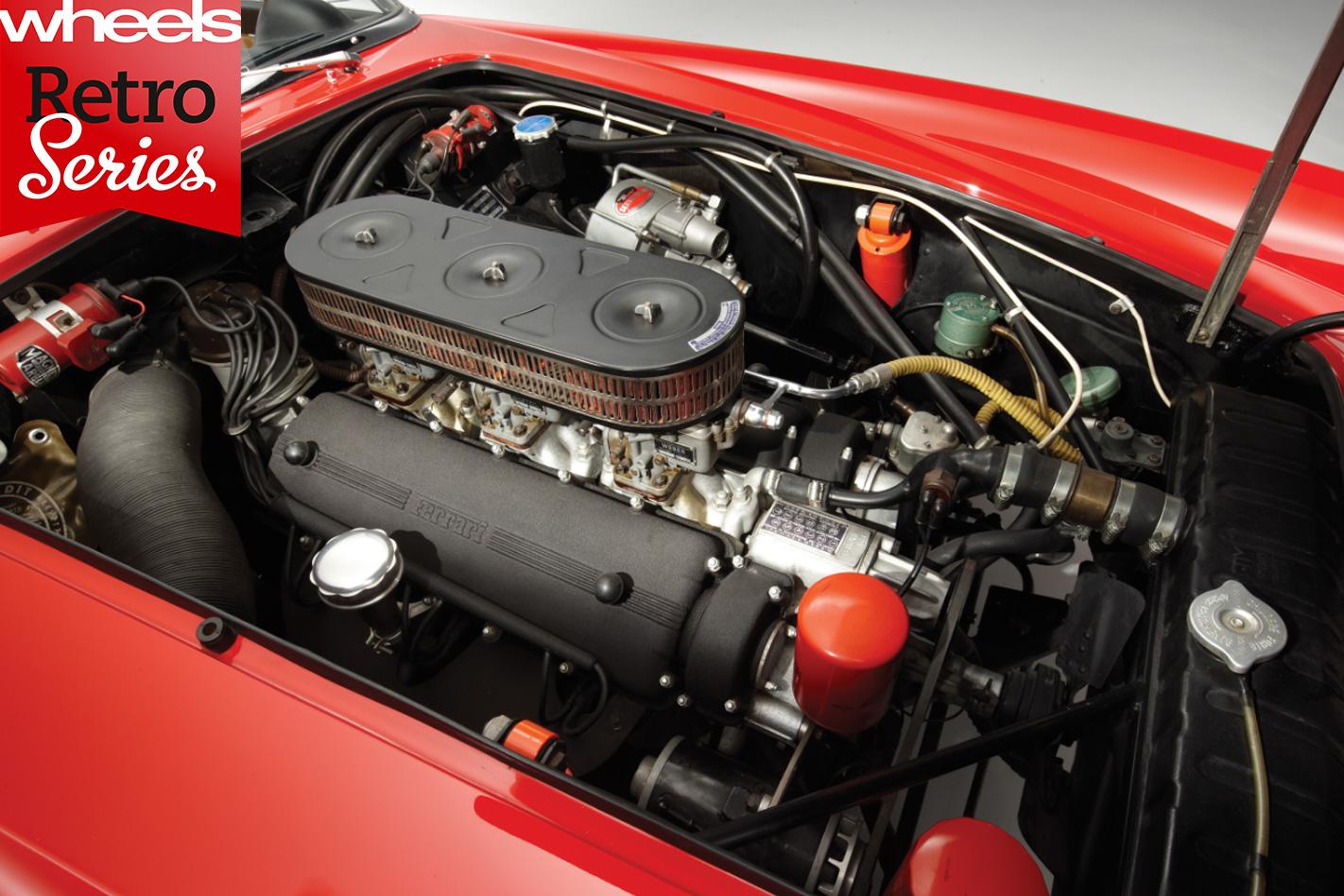 1960-Ferrari -250-GT-California -engine