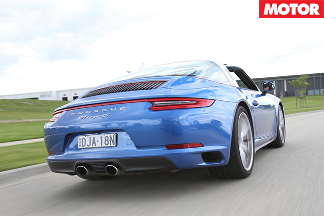 2016 Porsche 911 Targa 4S rear driving
