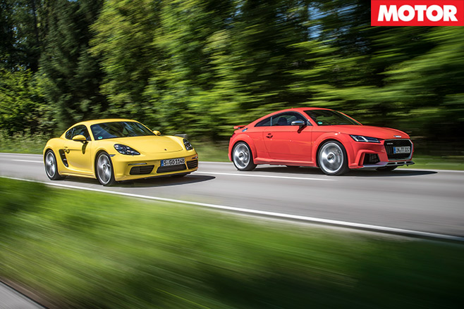 Porsche 718 Cayman -S-vs -Audi -TT-RS-1
