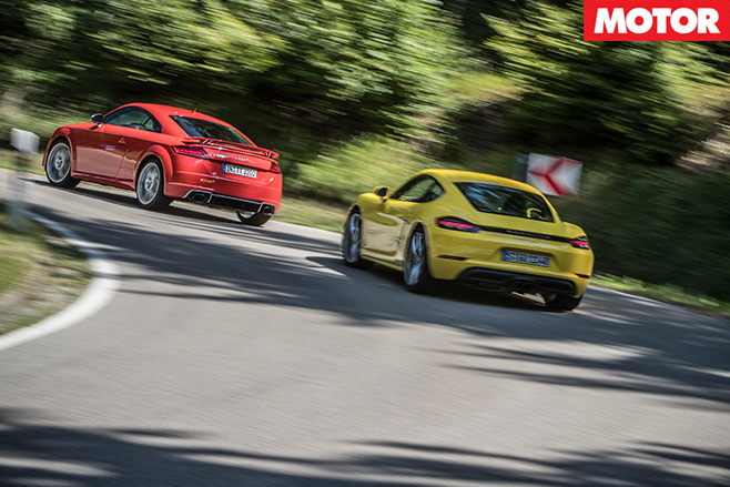 Porsche -718-Cayman -S-vs -Audi -TT-RS-2