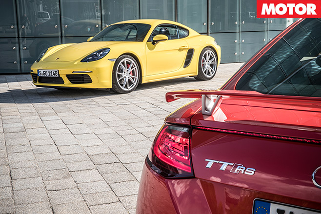Porsche -718-Cayman -S-vs -Audi -TT-RS-6