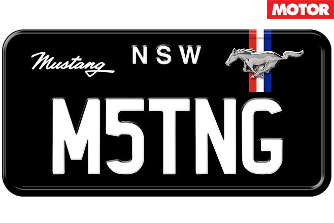 Mustang -number -plates
