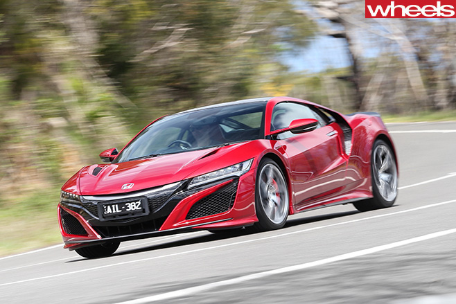 Honda -NSX-2017-side -front -driving