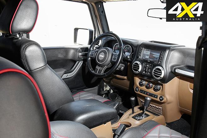 6x6 Jeep JK wrangler interior