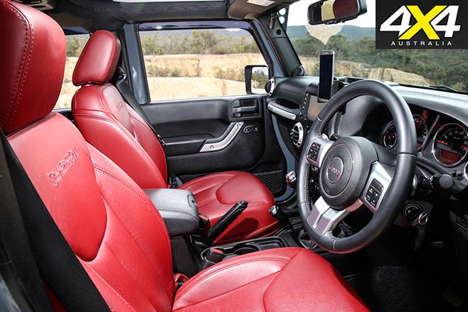Wild Jeep JK Wrangler interior