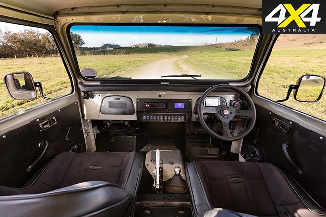 Toyota FJ480 Hybrid V8 interior