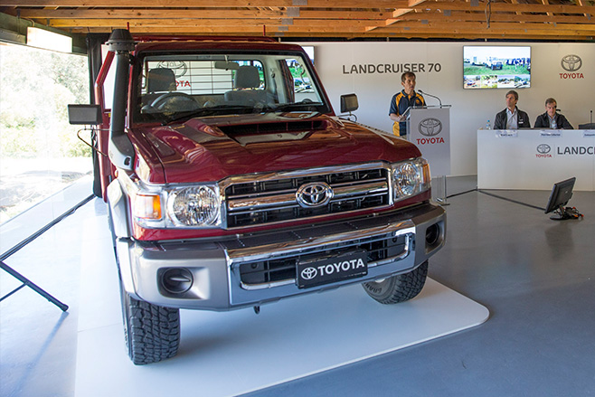 70 series landcruiser showroom