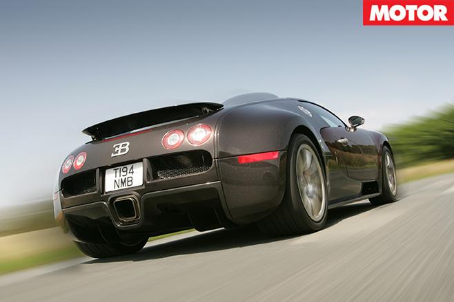 Bugatti Veyron rear driving