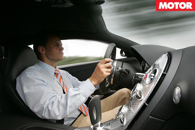 Bugatti Veyron driving