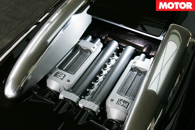 Bugatti Veyron secrets engine