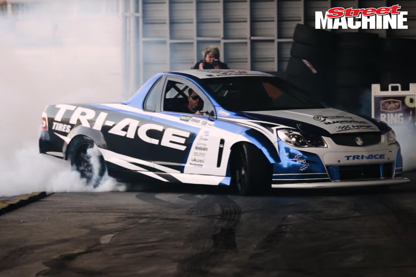 Formula Drift Holden Ute Josh Robinson Burnout