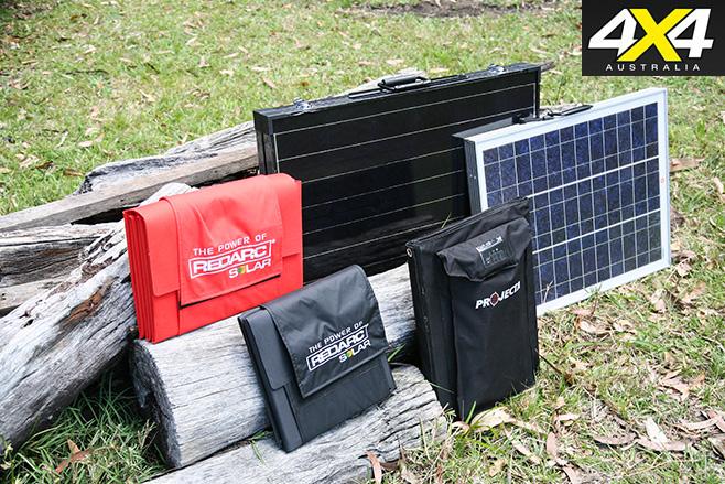 Solar panels against log