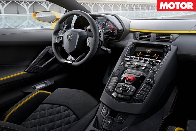 2017 Lamborghini Aventador S interior
