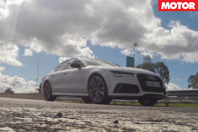 Audi RS7 Performance Acceleration Testing side