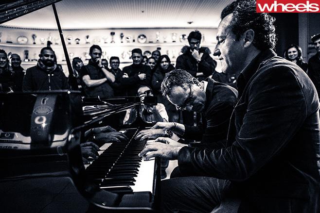 Ferrari -design -boss -falvio -manzoni -with -piano