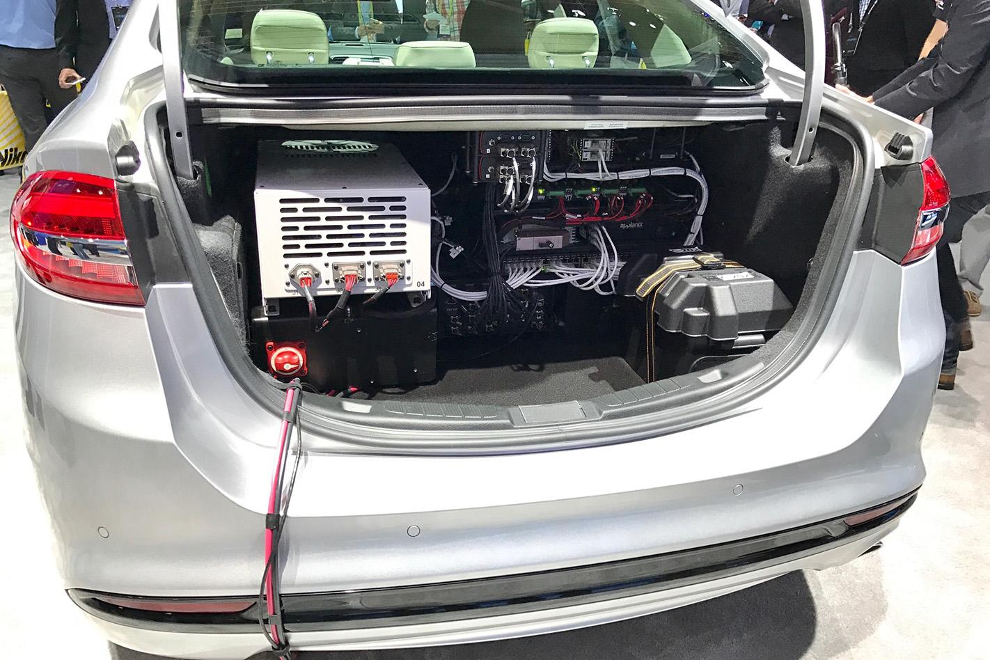 Ford -Fusion -autonomous -boot -electronics