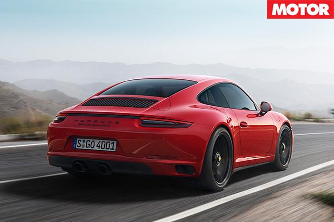 Porsche 911 GTS rear driving