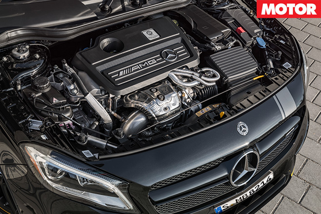 2017 Mercedes-AMG GLA45 engine