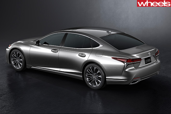 2017-Lexus -LS-rear -side