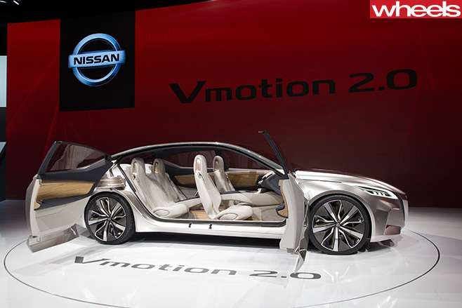 Nissan -Vmotion -2-0-concept -Detroit -Motor -Show -side -doors -open