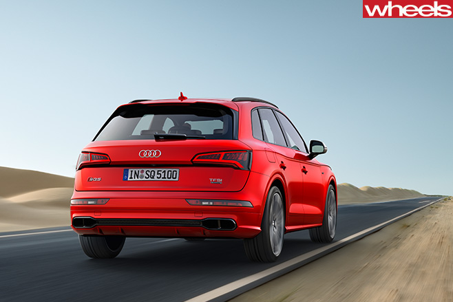 Audi -SQ5-driving -rear -side