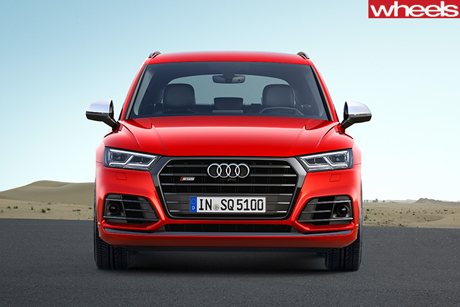 Audi -SQ5-driving -front -side