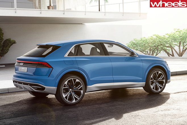 2017-Audi -Q8-Quattro -concept -rear -side
