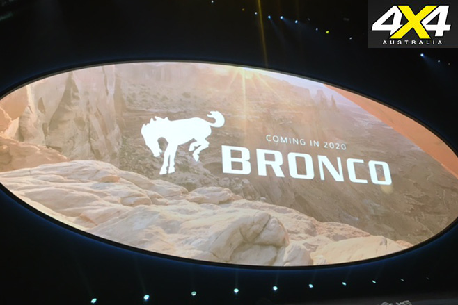 Ford Bronco Coming in 2020
