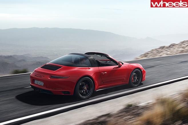 Porsche -911-GTS-driving -side