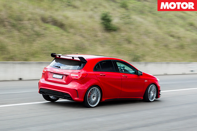 Driving the Mercedes-AMG A45