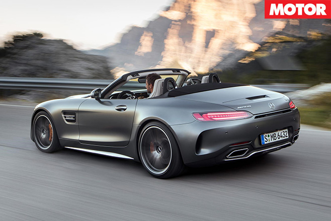 2017 Mercedes AMG-GT-C convertible driving