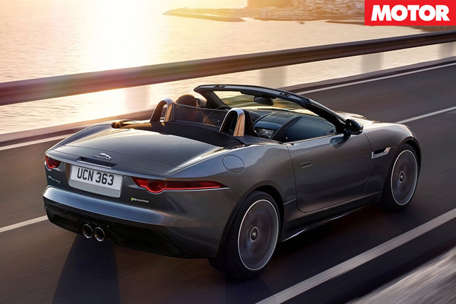 2018 Jaguar F-type rear