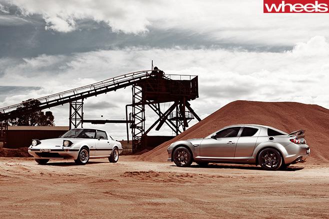 2008-Mazda -RX-8-and -1979-Mazda -RX-7