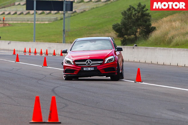 Mercedes -Benz -A45-AMG-Slalom _front _view
