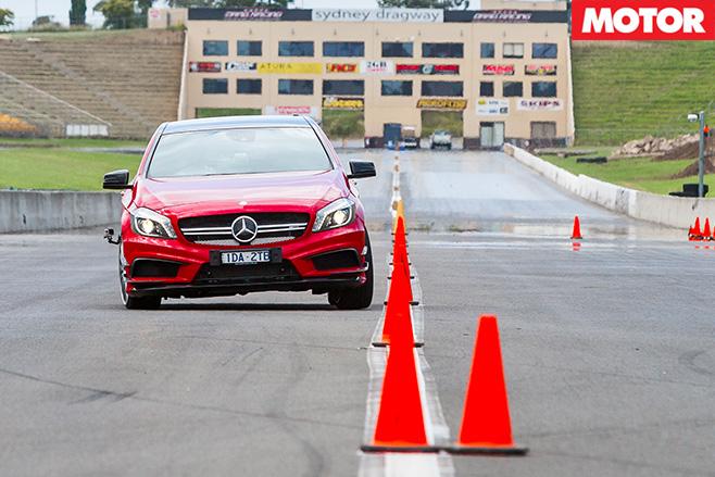 Mercedes -Benz -A45-AMG-Slalom