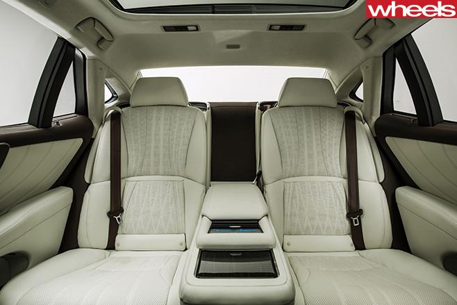 2018-Lexus -LS-500-interior -rear -seats