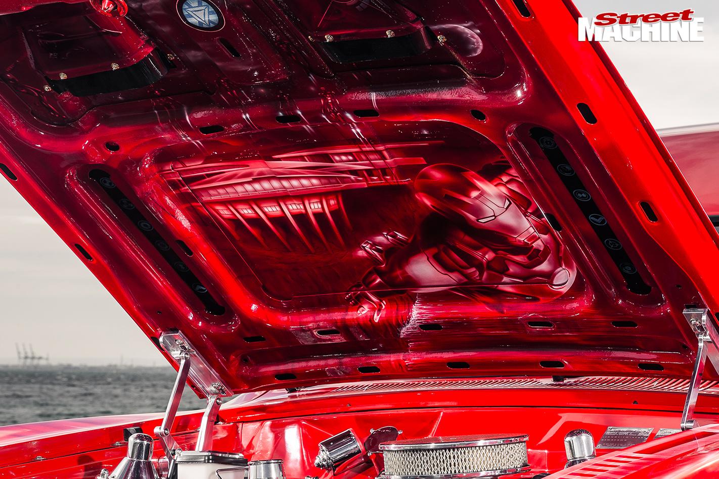 Ford -XC-wagon -jaffa -bonnet -underneath