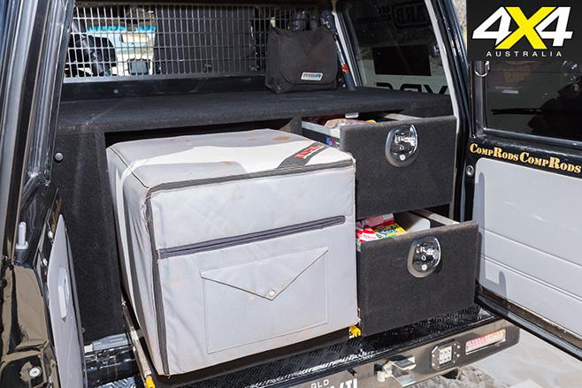 Custom Toyota -LandCruiser VDJ76R storage