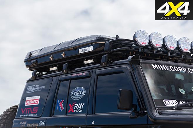 Custom Toyota Land Cruiser VDJ76R roof rack