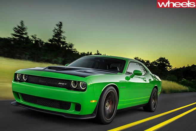 Dodge -Challenger -SRT-drviing -front -side